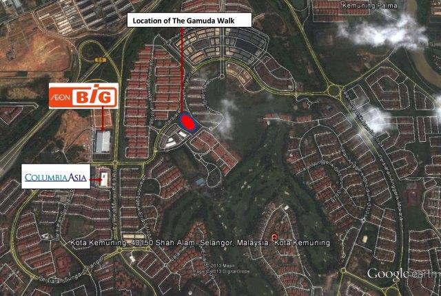 Gamuda Walk Location copy